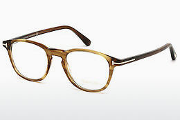 Óculos de design Tom Ford FT5389 048 - Castanho, Dark, Shiny