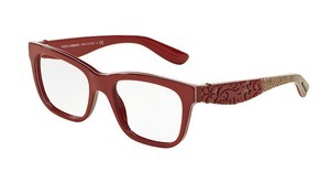 Dolce & Gabbana DG3239 2999 TOP RED/TEXTURE TISSUE