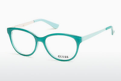 Óculos de design Guess GU2539 093 - Verde, Bright, Shiny