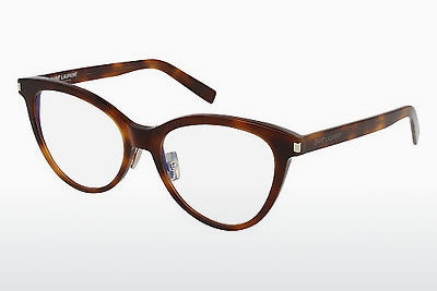 Óculos de design Saint Laurent SL 177 SLIM 002 - Castanho, Havanna