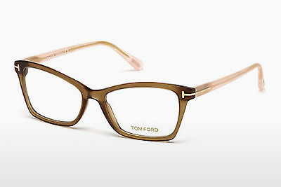 Óculos de design Tom Ford FT5357 048 - Castanho, Dark, Shiny