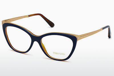 Óculos de design Tom Ford FT5374 090 - Azul, Shiny