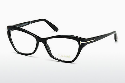 Óculos de design Tom Ford FT5376 001 - Preto, Shiny