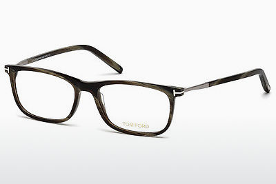 Óculos de design Tom Ford FT5398 061 - Verde, Castanho, Havanna