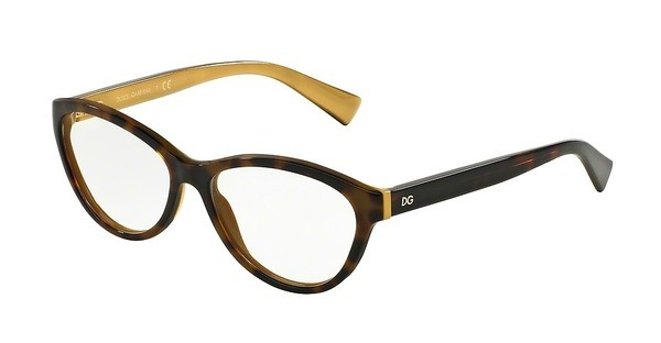 Dolce & Gabbana DG3232 2956 TOP HAVANA ON GOLD