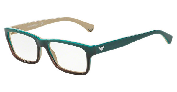 Emporio Armani EA3050 5345 GREEN GRADIENT BROWN ON BEIGE