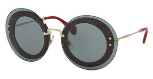 Miu Miu MU 10RS U6D3C2 GREYTRANSPARENT GREY/FARBIC RED