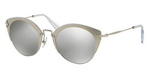 Miu Miu MU 53RS VAE2B0 LIGHT GREY MIRROR SILVERSAND SILVER