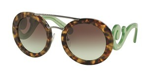 Prada PR 13SS UEZ4K1 GREEN GRADIENT GREYSPOTTED BROWN GREEN