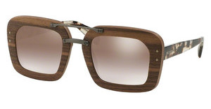 Prada PR 30RS IAM4O0 GRADIENT BROWN MIRROR SILVERNUT CANALETTO