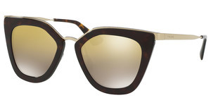 Prada PR 53SS 2AU6O0 LIGHT BROWN MIRROR GOLD GRADTORTOISE