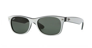 Ray-Ban RB2132 770 TOP DARK WHITE ON BLA CRYSTAL GREEN