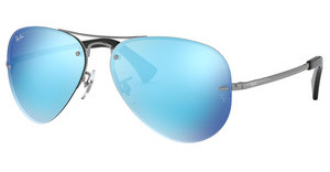 Ray-Ban RB3449 004/55 LIGHT GREEN MIRROR BLUEGUNMETAL