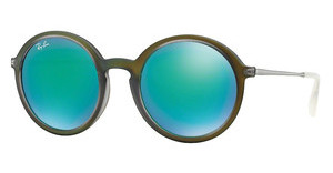 Ray-Ban RB4222 61693R LIGHT GREEN MIRROR GREENSHOT GREEN RUBBER