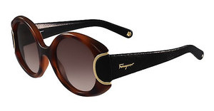 Salvatore Ferragamo SF811SL SIGNATURE 233 HAVANA W-BLACK LEATHER