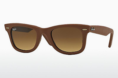 Óculos de marca Ray-Ban WAYFARER LEATHER (RB2140QM 116985) - Castanho