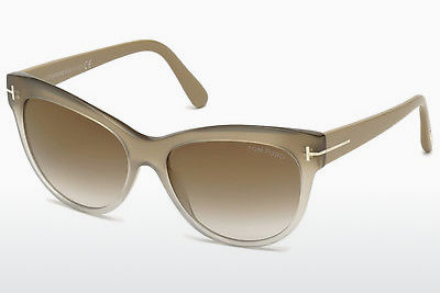 Óculos de marca Tom Ford Lily (FT0430 59G) - Corno, Beige, Brown
