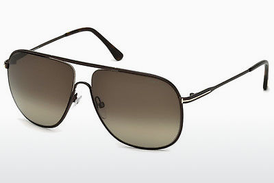 Óculos de marca Tom Ford Dominic (FT0451 49K) - Castanho, Dark, Matt