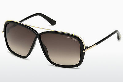 Óculos de marca Tom Ford Brenda (FT0455 01K) - Preto, Shiny
