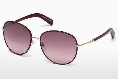 Óculos de marca Tom Ford Georgia (FT0498 69T) - Bordeaux, Bordeaux, Shiny