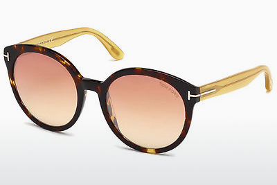 Óculos de marca Tom Ford Philippa (FT0503 52Z) - Castanho, Dark, Havana