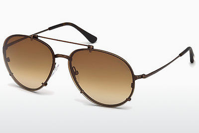 Óculos de marca Tom Ford Dickon (FT0527 49J) - Castanho, Dark, Matt