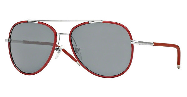 Burberry BE3078J 120487 GREYSILVER/MATTE RED