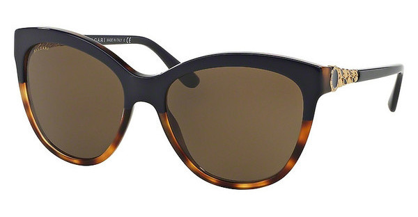 Bvlgari BV8158 537173 BROWNTOP BLUE ON HAVANA