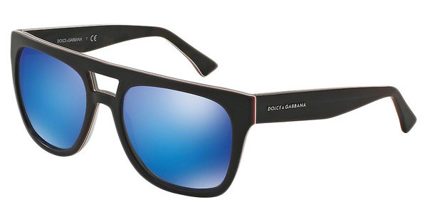 Dolce & Gabbana DG4255 295425 GREEN MIRROR LIGHT BLUEBLUE/FLUO RED/MT CAMOUFLAGE