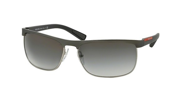 Prada Sport PS 54QS DG10A7 GREY GRADIENTGUNMETAL RUBBER/STEEL RUBBER