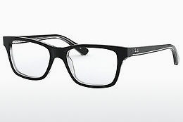 Óculos de design Ray-Ban Junior RY1536 3529 - Preto, Transparente