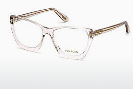 Óculos de design Tom Ford FT5520 045 - Castanho, Bright, Shiny
