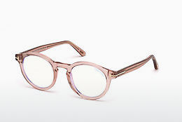 Óculos de design Tom Ford FT5529-B 072 - Dourado, Rosa