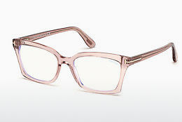 Óculos de design Tom Ford FT5552-B 072 - Dourado, Rosa