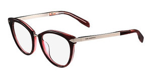 Karl Lagerfeld KL915 151 SHINY STRIPED BORDEAUX RED