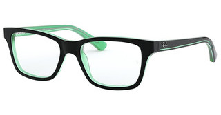 Ray-Ban Junior RY1536 3764 TRASP GREEN ON TOP BLACK