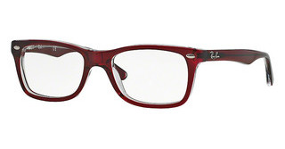 Ray-Ban RX5228 5112 DARK RED ON TRASPARENT