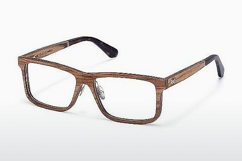 Óculos de design Wood Fellas Eisenberg (10943 zebrano)