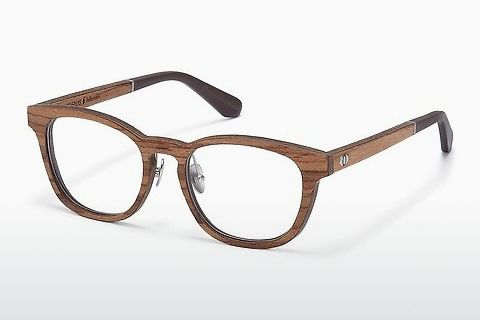 Óculos de design Wood Fellas Falkenstein (10950 zebrano)