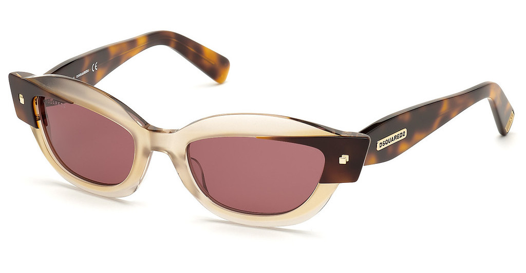 Dsquared   DQ0335 56S bordeauxhavanna
