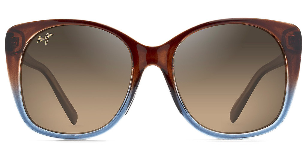 Maui Jim   Mele HS794-01F HCL BronzeTranslucent Dark Chocolate with Blue