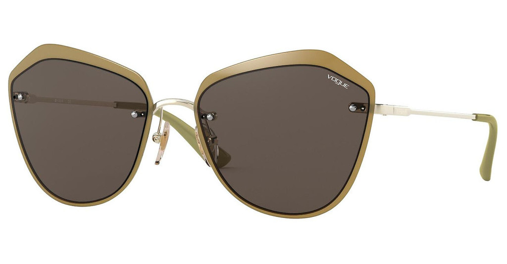 Vogue   VO4159S 848/73 BROWNPALE GOLD/OPAL GREEN