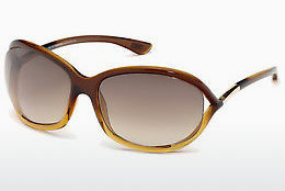 Óculos de marca Tom Ford Jennifer (FT0008 50F) - Castanho, Dark