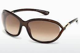 Óculos de marca Tom Ford Jennifer (FT0008 692) - Castanho, Dark, Shiny