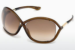 Óculos de marca Tom Ford Whitney (FT0009 692) - Castanho, Dark, Shiny