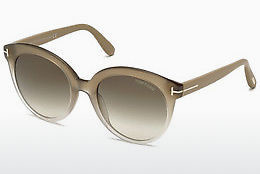 Óculos de marca Tom Ford Monica (FT0429 59B) - Corno, Beige, Brown