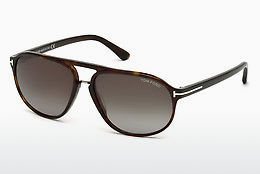 Óculos de marca Tom Ford Jacob (FT0447 52B) - Castanho, Dark, Havana