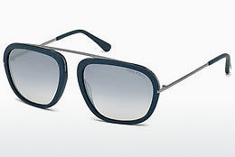 Óculos de marca Tom Ford Johnson (FT0453 88C) - Azul, Turquoise, Matt