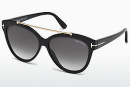 Óculos de marca Tom Ford Livia (FT0518 01B) - Preto, Shiny