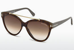 Óculos de marca Tom Ford Livia (FT0518 53F) - Havanna, Yellow, Blond, Brown